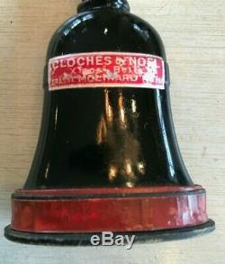 Rare Antique 20s Cloches De Noel Xmas Bells Perfume Bottle Grasse Molinard 2126
