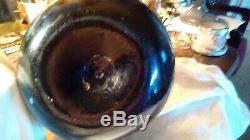 Rare Antique Black Glass Onion Bottle Alloa 1830s