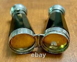 Rare Black Glass Double Ended Laydown Victorian Perfume Bottle RARE