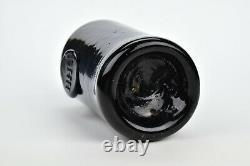 Rare English Black Glass HHC Seal Bottle 18th Century