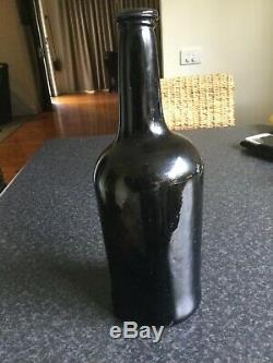 Rare mint Black glass Non-Dubio hand blown bottle