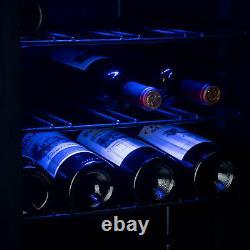 Refrigerator Wine Cooler Fridge 24 Bottle Capacity Digital Control Glass Door
