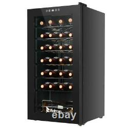Refrigerator Wine Cooler Fridge 28 Bottle Capacity Digital Control Glass Door