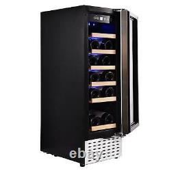 Refrigerator Wine Cooler Fridge 48 Bottle Capacity Digital Control Glass Door US