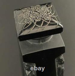 Rene Lalique AMBRE D''ORSAY H 13 cm Perfume bottle French Glass 1913 antique