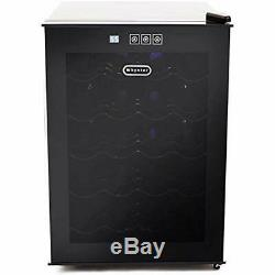 SALE 20 Bottle Thermoelectric Wine Cooler With Black Tinted Mirror Glass Door