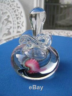 SALE! LOTTON STUDIOS PERFUME BOTTLE Jerry Heer, Pink Floral/ Black, 4, 1997