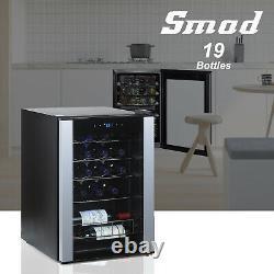 SMAD 19 Bottle Wine Cooler Refrigerator Wine Storage Chiller Glass Door Pub Bar