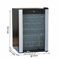 SMAD 19 Bottles Cellar Mini Bar Drinks Wine Refrigerator Glass Beverage Cooler