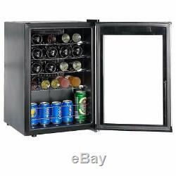 SMAD 19 Bottles Cellar Mini Bar Glass Refrigerator Drinks Wine Fridge Beverage