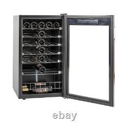 SMAD 33 Bottle Wine Fridge Beverage Cooler LED Stainless Steel Glass Door