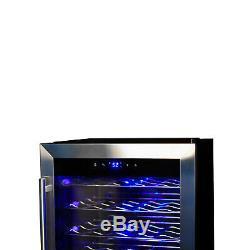 SMAD 35 Bottle Drink Compact Wine Fridge Glass Door Beverage Cooler Refrigerator