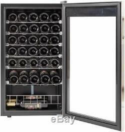SMAD 35 Bottle Wine Cooler Cabinet Beverage Beer Drinks Fridge Bar Glass Door