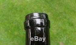 Scottish Blown Pontil Black Glass Whisky Bottle Firhill Works, HENDRY & GIBSON