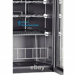 Smad 35 Bottles Compressor Wine Fridge Cooler Chiller Refrigerator Glass Door
