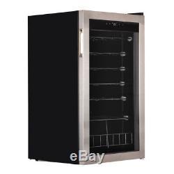 Smad 35 Bottles Wine Fridge Wine Cellars Wine Cooler Glass Door Bar Compressor