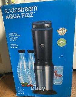 SodaStream Aqua Fizz Sparkling Water Machine Co2 And 2 Glass Bottles