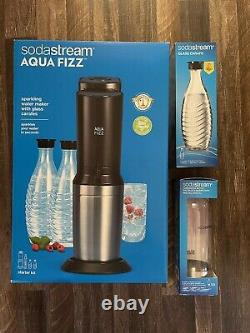 SodaStream Aqua Fizz Sparkling Water Maker with Glass Carafe & Carbonating Bottle