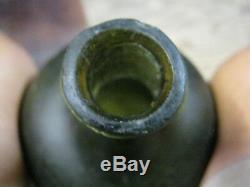 Spectacular Dugpontiled 1700-20black Glass True Bulbous English Onion
