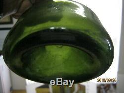 Spectacular Not Dug Pontiled 1700-20black Glass Straight Sided Dutch Onion