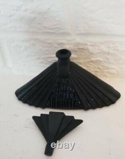 Superb Black Antique Art Deco Black Perfume Bottle