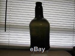Superb Florida Keys Ocean Find Pontiled 1800black Glass True English Mallet