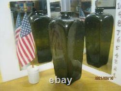 Top Shelf Crudest Winner Ever Pontiled9 5/8 Black Glass Dutch Case Gin