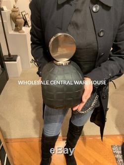 Two Nafuna Etched Charcoal Black Art Glass Decorative Vases Bottles Modern Top