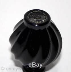 ULTRA-RARE BLACK Glass LALiQUE L'Air du Temps French Perfume Bottle NiNA RiCCi