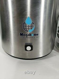 USED- Megahome Water Distiller Stainless and Black with Glass Bottle and Filters