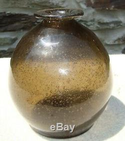 Unusual RARE EARLY BLACK GLASS BLADDER, VASE, BOTTLE! Full of Bubbles Crude