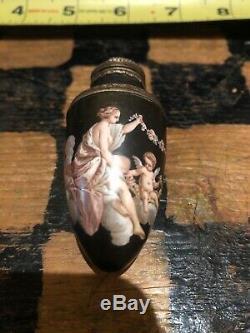 Victorian Snuff Bottle Cologne Bottle Highly Detailed Enameled