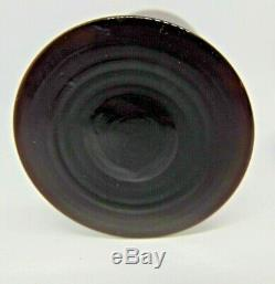 Vintage 1920's Czech Black Glass Scent or Perfume Bottle Acorn Stopper 7 tall