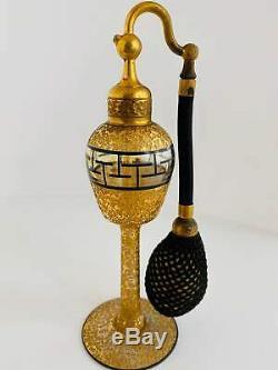Vintage 1920s DeVilbiss Art Deco Perfume Atomizer Bottle Black Gold