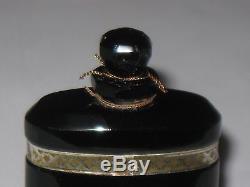 Vintage Caron Nuit de Noel Perfume Baccarat Style Bottle/Box 1 OZ, 1/2 Full 3