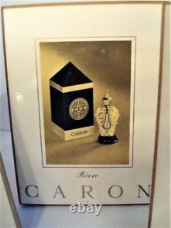 Vintage Caron Perfume Display Signs (3) & Sample Le Narcisse Noir Bottle