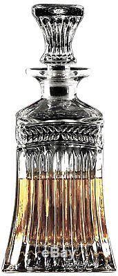 Vintage Decanter Glass Whiskey Glassware Crystal Bottle Bar Scotch Liquor