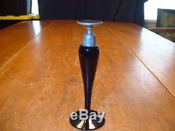 Vintage Devilbiss Black Amethyst Perfume Bottle Signed