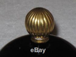 Vintage Jeanne Lanvin Black Perfume Bottle Store Display Gold Stopper 5 1/2