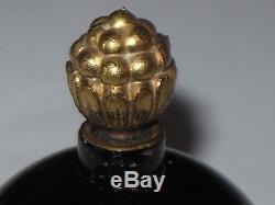 Vintage Jeanne Lanvin Perfume Bottle My Sin Black/Glass Stopper 2 OZ Empty 3 Ht