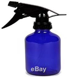 Vivaplex Large 16 Oz Empty Cobalt Blue Glass Spray Bottle With Black Trigger Spr