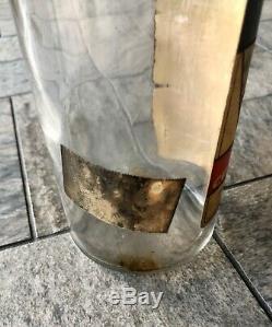 Vtg Cotton Picker 100 Proof Straight Corn Whiskey Black Americana Glass Bottle