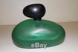 Vtg Venezia Salviati Murano Art Glass Perfume Parfum Bottle Frosted Green Black
