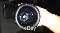 WOW! Stunning Irredescence! Black Mallet Champagne Bottle