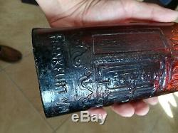 Warner's Safe Cure Frankfurt A/M Oliv / Black Glass Amber with RUBY Tones