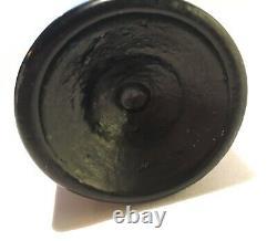 Western Gold Rush Pontiled 1850's WBJ Aspinwall Black Glass Antique Bottle