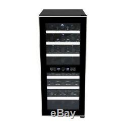 Whynter Wine Cooler Refrigerator 24 Bottle Dual Zone Touch Control Glass Door