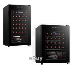 Wine Beverage LED Lighting Center Cooler Small Fridge Refrigerator Glass Door