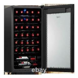 Wine Cooler Arctic King Premium 34 Bottle Fridge Chiller Touch Control Glass