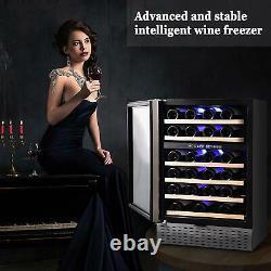 Wine Cooler Beverage Refrigerator Beer Fridge Digital Stainless Steel Glass Door